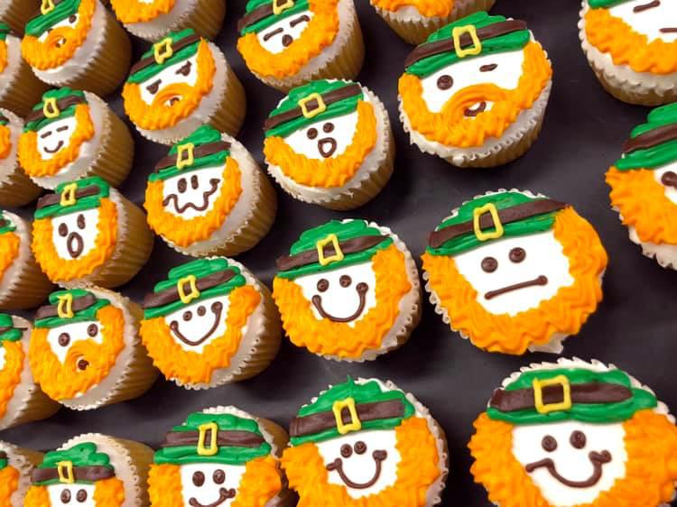 Leprachan cupcakes