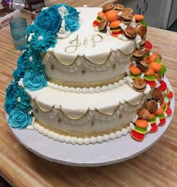 Hamburger Wedding Cake