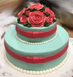 Robin Blue With Pink Roses 48