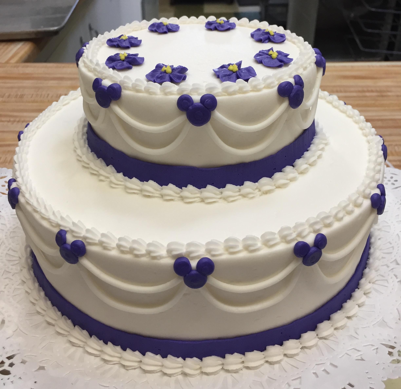 2 Tier purple Mouse theme cake 20