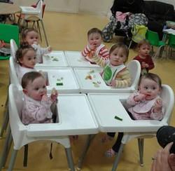6 babies