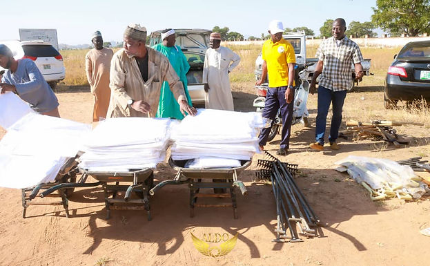 Donation of working materials to Bauchi state Muslim Cemetery
