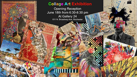 Collage Art Exhibition Opening Reception