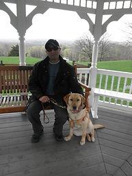 Joel Isaac with Zanna his service dog