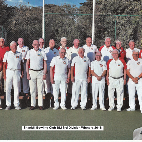 The Div 3 Winners with the late Joe Byrne featured