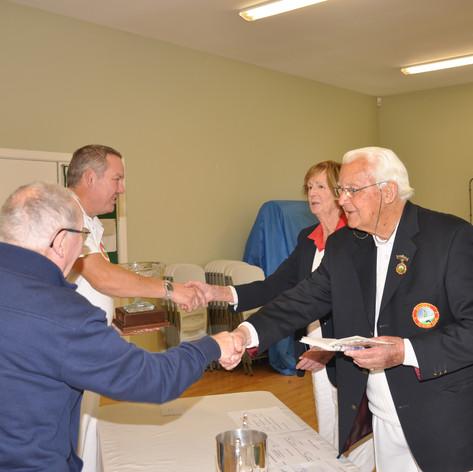 Sir Henry Grattan Bellew Congratulating winners