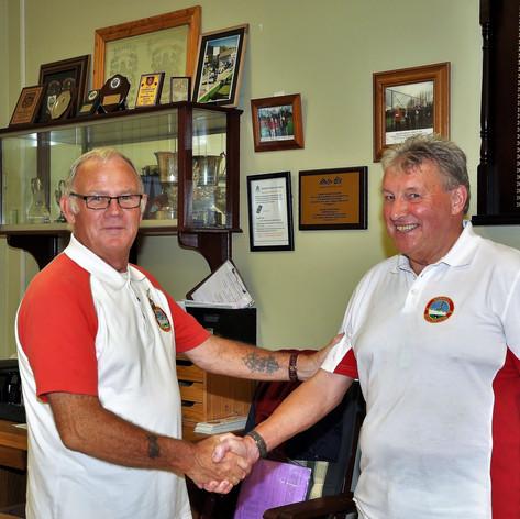 Tom Dillon Liam Rigley Captain & Vice Captain Div 3 Winners