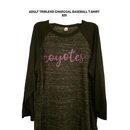 Adult Tri-Blend Baseball T-Shirt