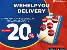 Wehelpyou Delivery: Promo Ongkir 20% Pengiriman Reguler Ke Semua Area Di Indonesia
