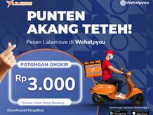 Pesan Lalamove dari Wehelpyou Dapat Potongan Ongkir Rp 3.000