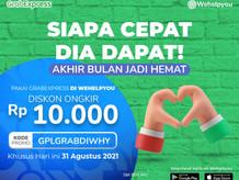 Promo Akhir Bulan Pakai GrabExpress, DISKON Ongkir Rp. 10.000