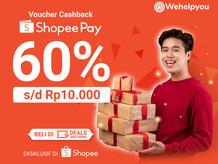 ShopeePay Cashback 60% Transaksi di Aplikasi Wehelpyou