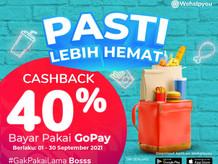 Makin hemat dengan Cashback 40% GoPay hingga Rp5.000!