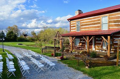 Log cabin country wedding venue in Kentucky