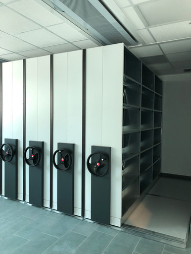 Mobile shelving - Frame