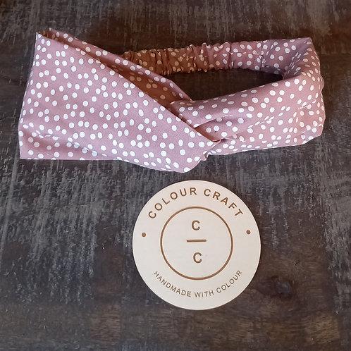 Pink Spot - Turban Headband
