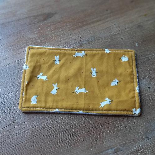 Face cloth - Mustard Bunny