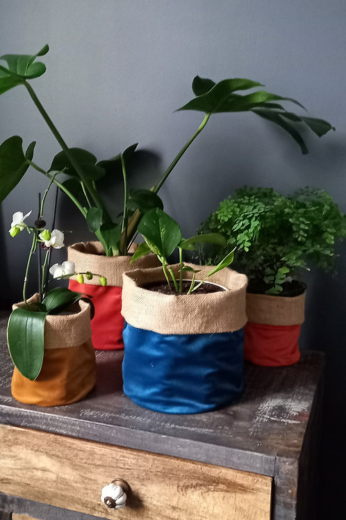 Hessian Plant Bag Velvet medium