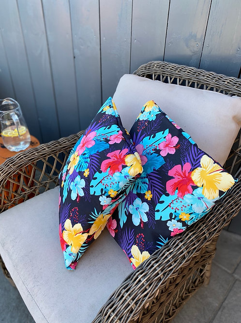 Outdoor Cushion/Cover- floral bright