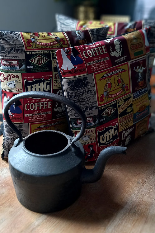 Cushion/Cover - vintage coffee