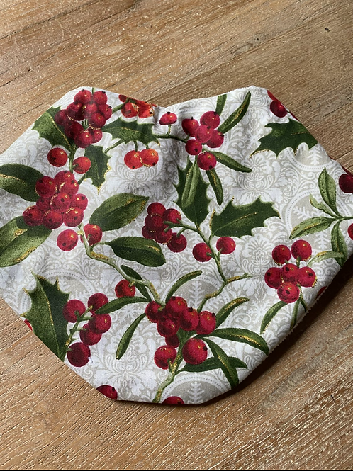 Christmas Bandanna Bib - Berries
