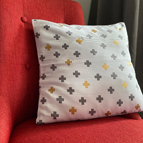 Cushion/Cover -Cross White