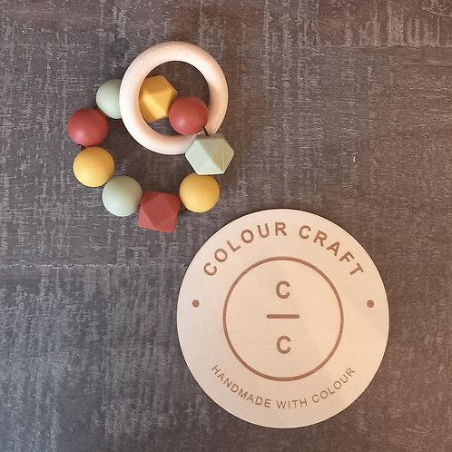 Teether Silcone - Mustard/Rust/Olive