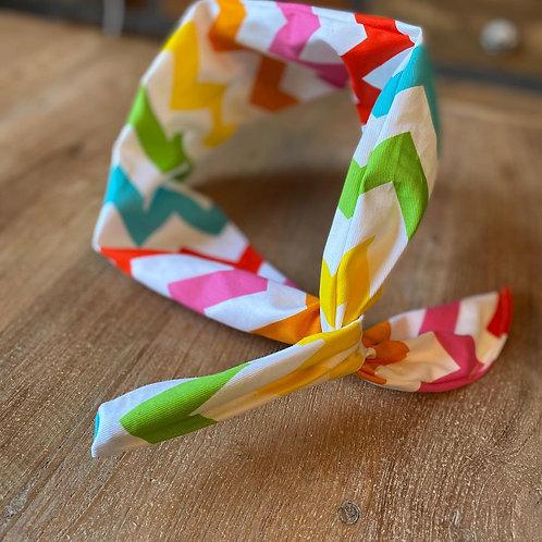 Wire Headband - Chevron Candy