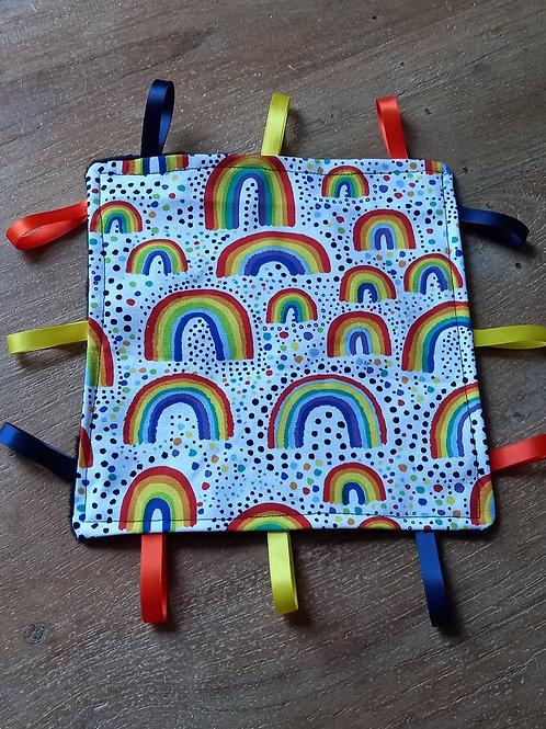 Taggy Comforter - Rainbow