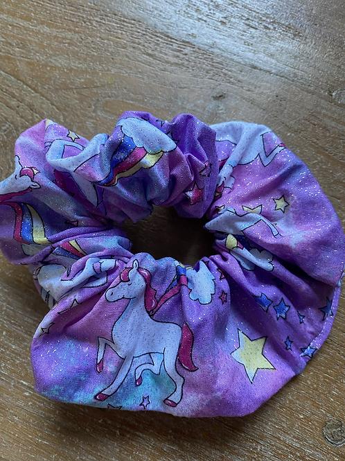 Scrunchie - unicorn purple