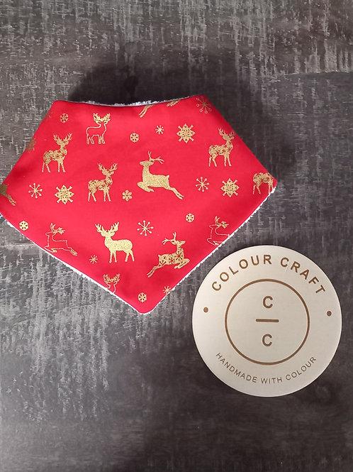 Red Reindeer - Dribble Bib
