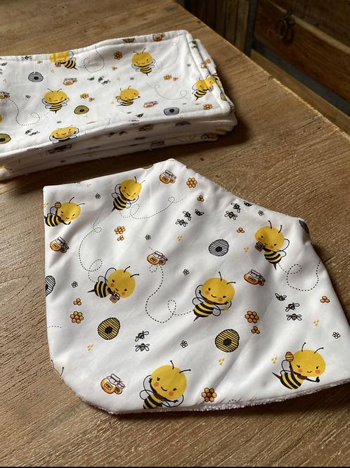 Bandanna Bib -  Buzzy Bee