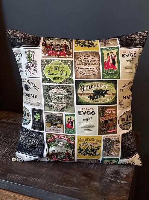 Cushion/Cover - Olive Vintage