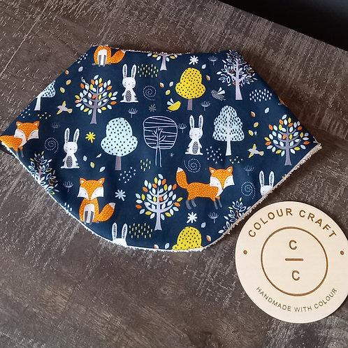 Bandana/Feeder Bib Woodland - Fox