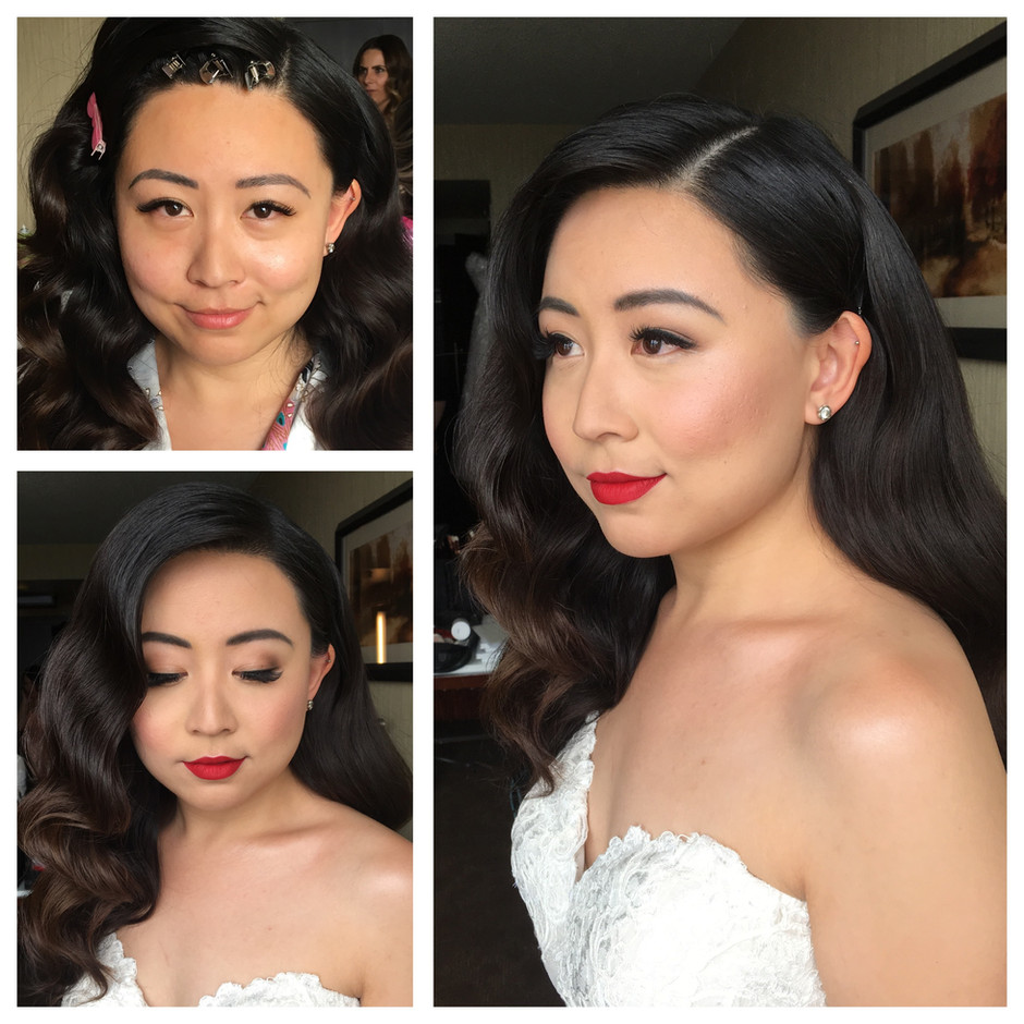 Makeup: Windy Chiu  Hair: Bridal Hair Couture by Katie