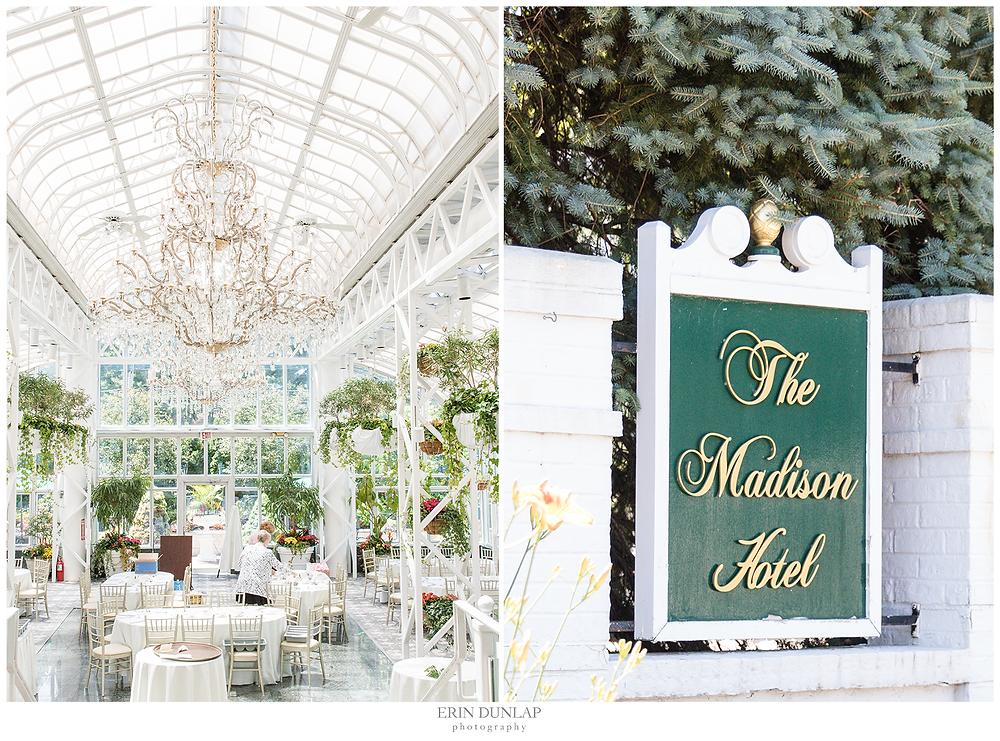 Inside the wedding venue of Madison Hotel