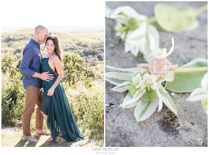 A Frolicking Engagement Session in the Flint Hills of Kansas