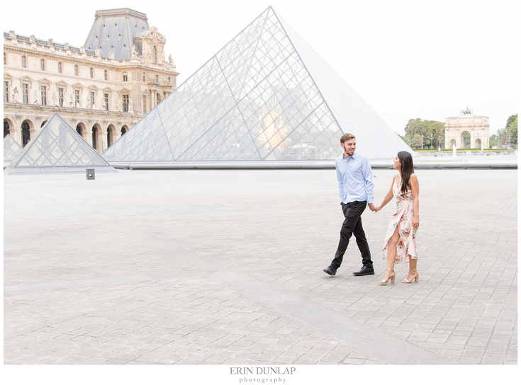 Sweethearts in Paris: A Louvre Engagement Session