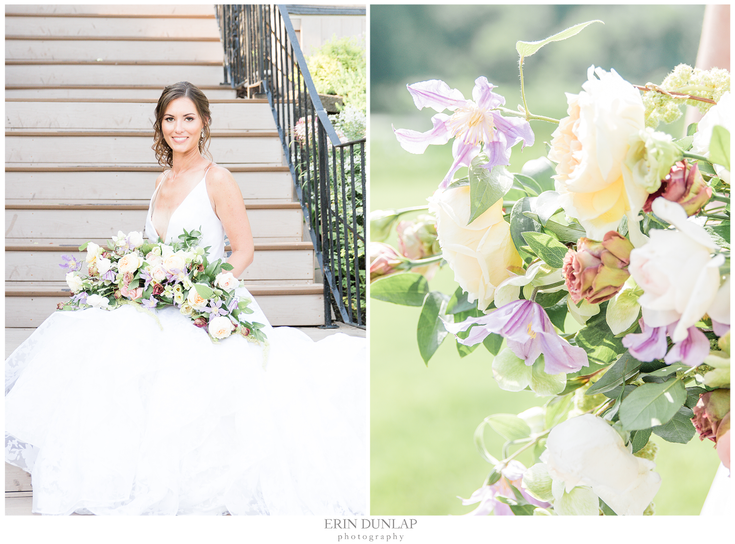 A Luxury Floral Affair at The Glen Sanders Mansion: Styled Bridal Shoot