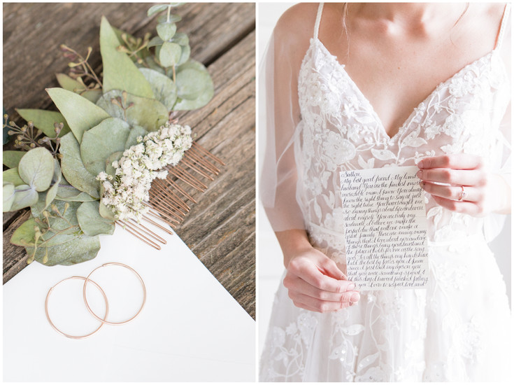 A Rose Gold and Eucalyptus Wedding at The Historic Taylor Barn in Lawrence, KS