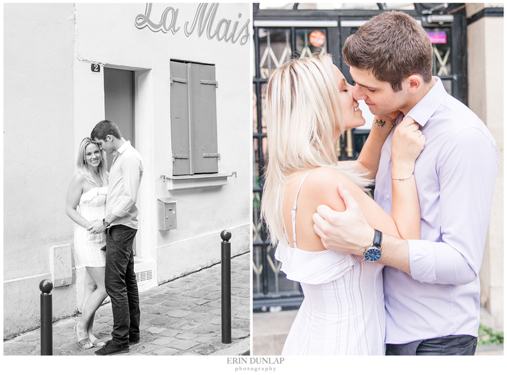 Love Through The Streets of Montmartre: Amanda + Jordan