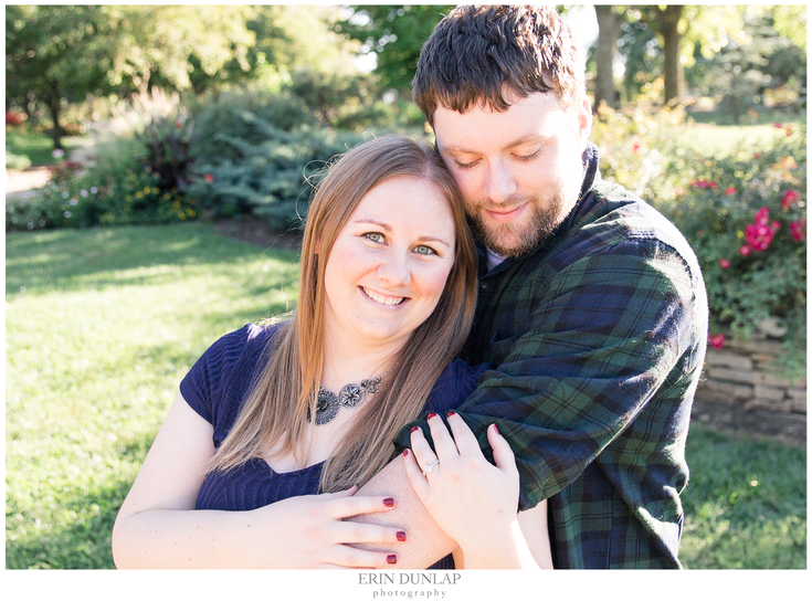 Emily and Keith's Sweet Engagement at the Topeka Gardens