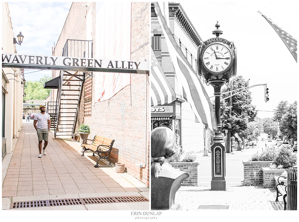 alley way and clock in madison square