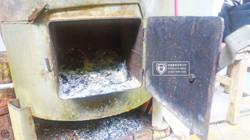 度假營地 台製燒柴鍋爐改燃油