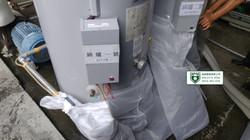 鍋爐保養前電子零件包覆