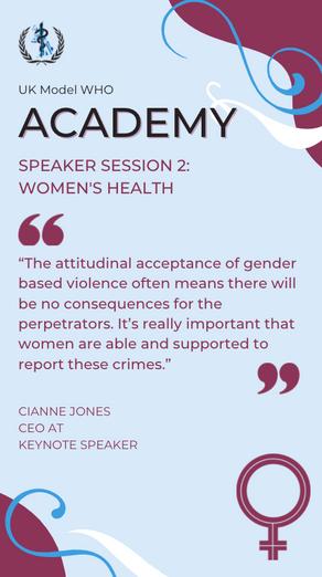 Speaker Session 2 – Women's Health