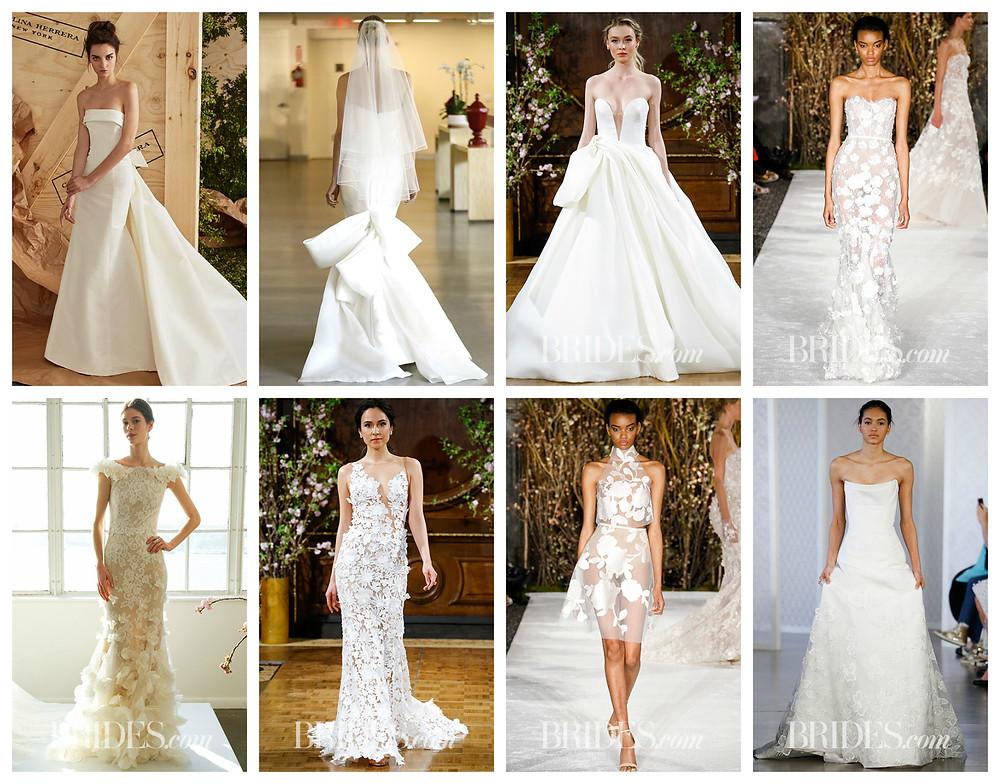Свадебные тренды весны 2017, свадебные платья 2017
