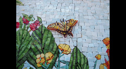 Pool Bubbler Exterior Mosaics