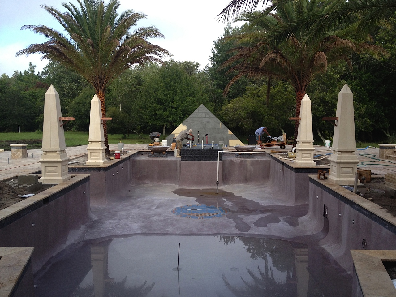 Egyptian Swimming Pool in Progress