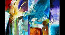 Abstract Art Glass Mosaic Pool 1